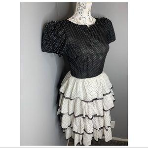 Vintage SQUARE DANCE Dress Co Polka Dot Size 8